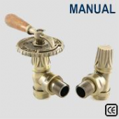 Bentley Manual Antique Brass Radiator Valve